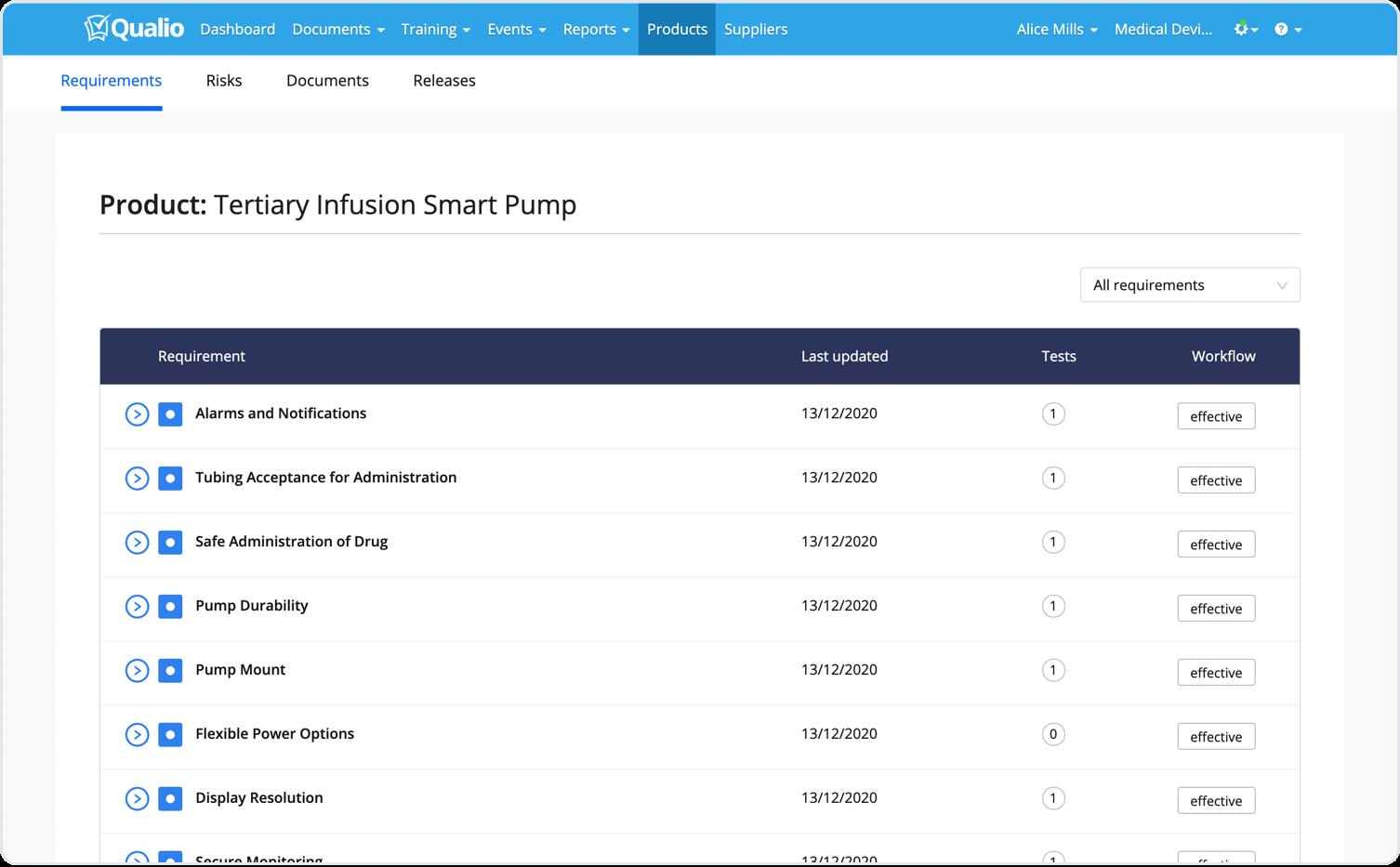 Screenshot (Products)