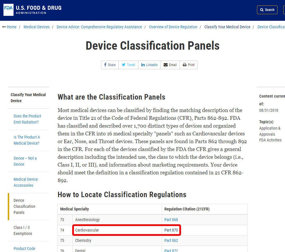 FDA Class 1
