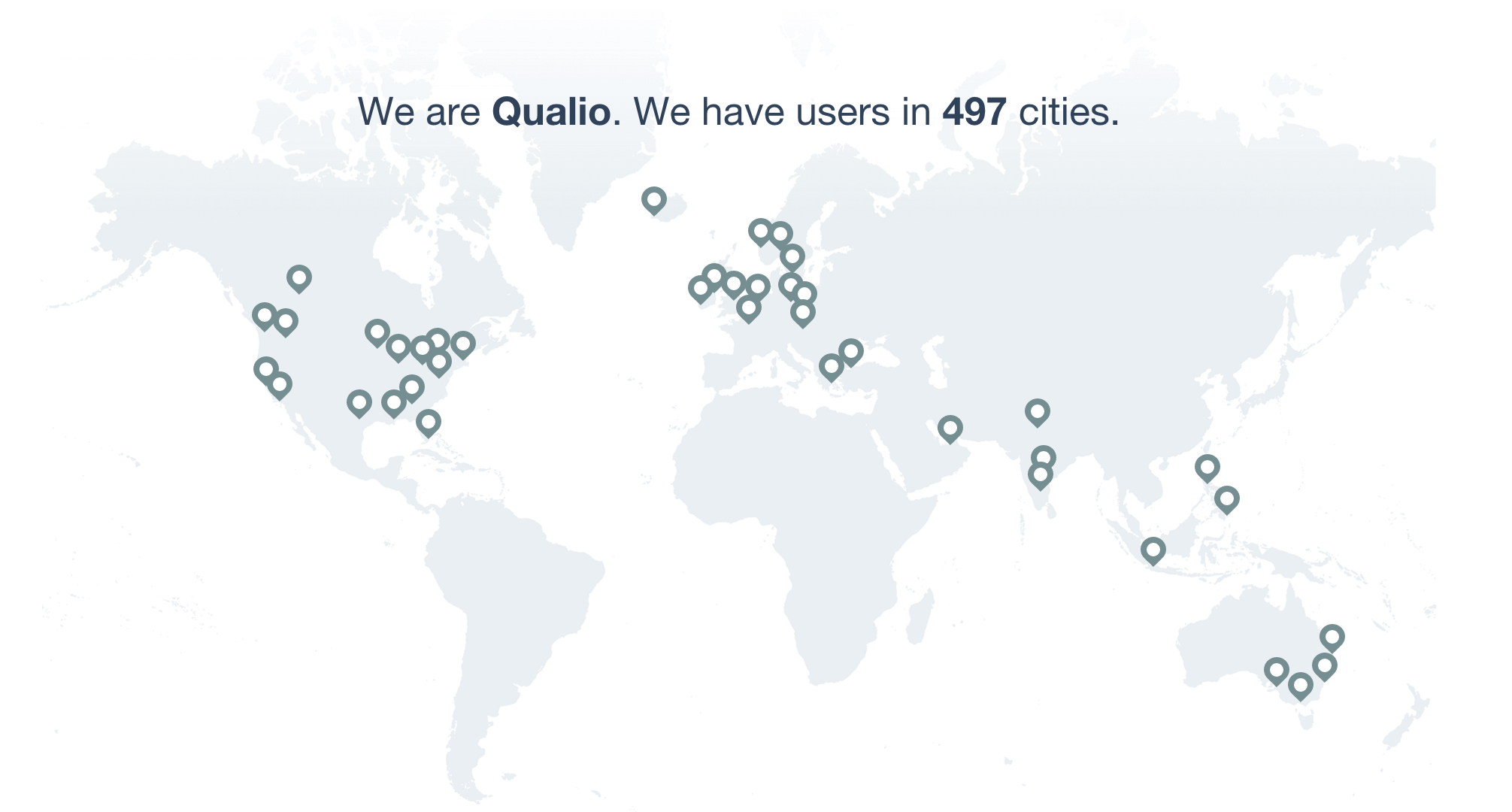 Qualio User Map